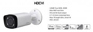 "HDCVI kamera Dahua HAC-HFW2401R-Z-IRE6 4,1Mpx, 1/3"" motorizirani objektiv 2,7~13,5 mm, IP67, WDR(120dB), IR 60m, Smart IR"