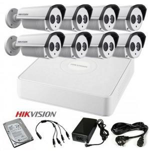 TURBOHD Komplet video nadzor 8 HD kamere (Domet IR 40m, 720p)