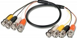 4 x BNC na 4 x BNC kabel, 100 cm